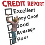 Woman builds up credit report score rating